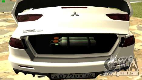 Mitsubishi Lancer X GVR for GTA San Andreas side view