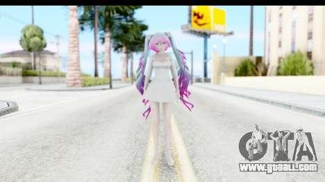 White Dress Miku for GTA San Andreas second screenshot