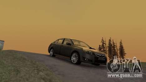 Subaru Legacy 2010 for GTA San Andreas back left view