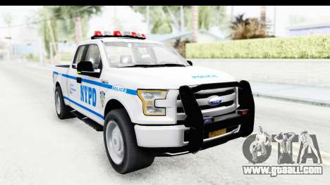 Ford F-150 Police New York for GTA San Andreas right view