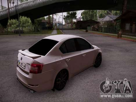 Skoda Octavia A7 R for GTA San Andreas right view