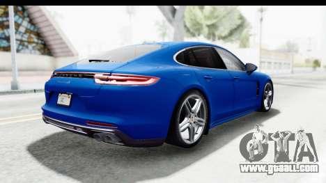 Porsche Panamera 4S 2017 v1 for GTA San Andreas left view