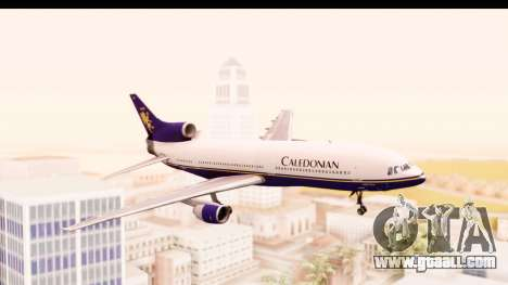 Lockheed L-1011-100 TriStar Caledonian for GTA San Andreas back left view