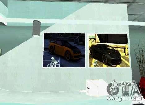 The Grotti dealership in San Fierro for GTA San Andreas forth screenshot