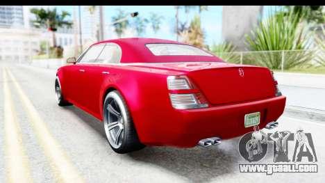 GTA 5 Enus Windsor Drop for GTA San Andreas back left view