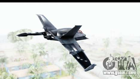 Batman Arkham Origins - Batwing for GTA San Andreas right view