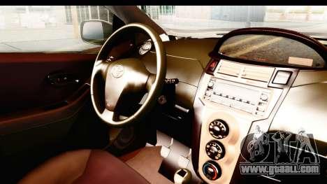 Toyota Vios 2008 Taxi Blue Bird for GTA San Andreas inner view