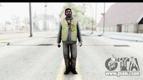 Left 4 Dead 2 - Zombie Baggage Handler for GTA San Andreas second screenshot