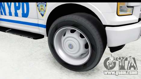 Ford F-150 Police New York for GTA San Andreas back view