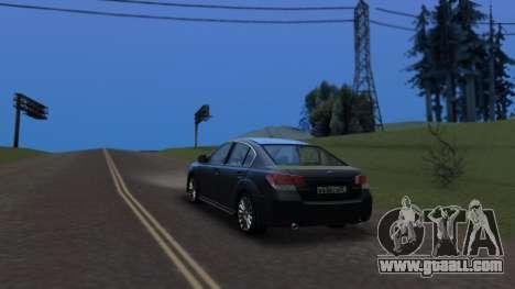 Subaru Legacy 2010 for GTA San Andreas left view