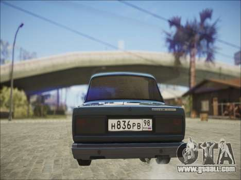 VAZ 2107 Black Jack for GTA San Andreas right view