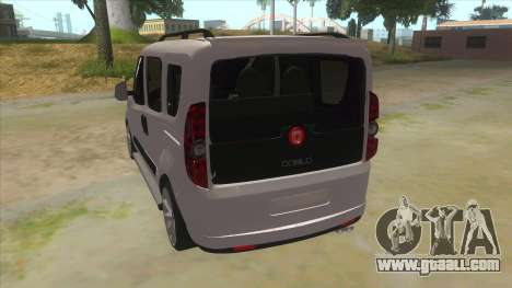 Fiat Doblo 2015 Series for GTA San Andreas back left view