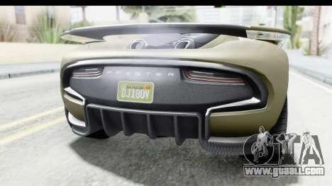 GTA 5 Pfister 811 IVF for GTA San Andreas inner view
