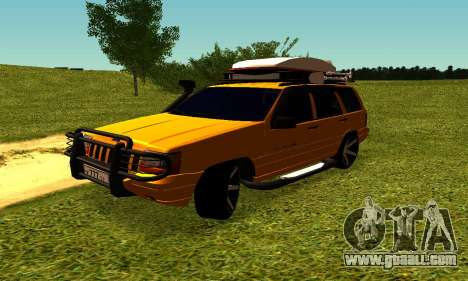 Jeep Grand Cherokee for GTA San Andreas inner view