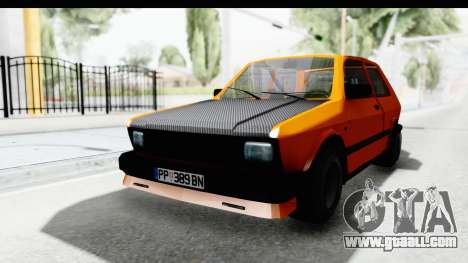 Zastava Yugo Koral 55 Race for GTA San Andreas back left view