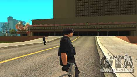 Original SWAT skin without a mask for GTA San Andreas second screenshot