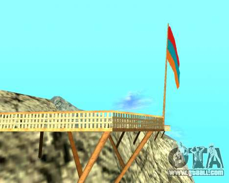 Armenian Flag On Mount Chiliad V-2.0 for GTA San Andreas second screenshot