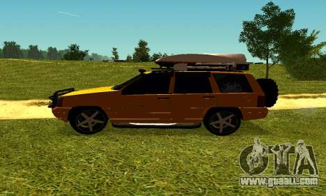 Jeep Grand Cherokee for GTA San Andreas back view