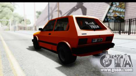 Zastava Yugo Koral 55 Race for GTA San Andreas left view