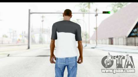 Adidas Black White T-Shirt for GTA San Andreas third screenshot