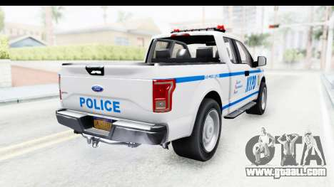 Ford F-150 Police New York for GTA San Andreas back left view