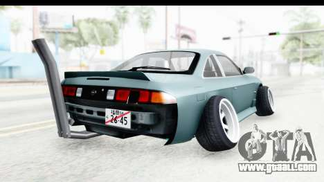 Nissan Silvia S14 Low and Slow for GTA San Andreas back left view