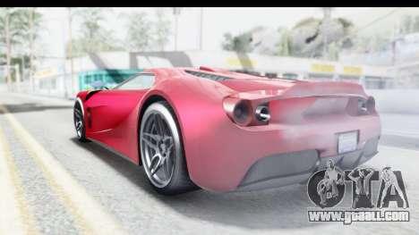 GTA 5 Vapid Bullet Face FMJ for GTA San Andreas left view