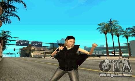 Female trainer SWAT for GTA San Andreas fifth screenshot
