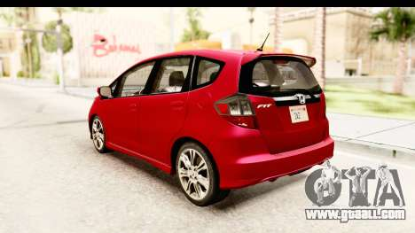 Honda Fit Sport 2009 for GTA San Andreas back left view