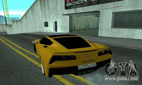 Chevrolet Corvette for GTA San Andreas back left view