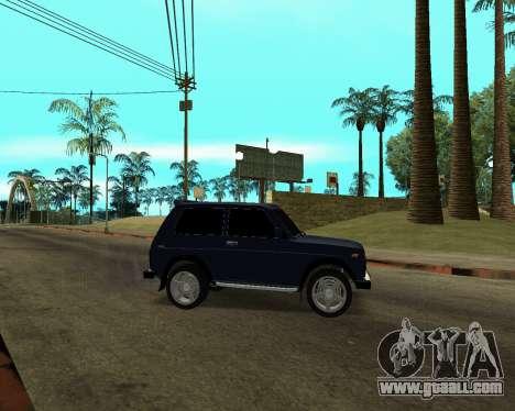Niva 2121 Armenian for GTA San Andreas upper view