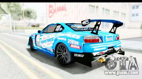 Nissan Silvia S15 D1GP Blue Toyo Tires for GTA San Andreas left view