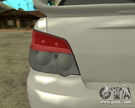 Subaru Impreza Armenian for GTA San Andreas inner view