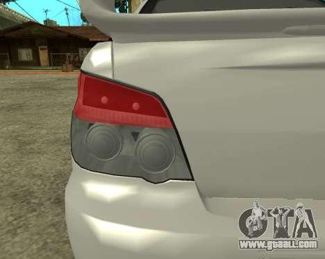 Subaru Impreza Armenian for GTA San Andreas inner view