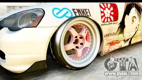 Acura RSX Type S 2002 Nisekoi Itasha for GTA San Andreas back view