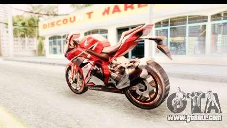 Honda CBR250RR for GTA San Andreas left view
