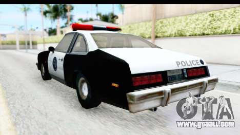Pontiac Ventura LSPD from Silent Hill 2 for GTA San Andreas back left view