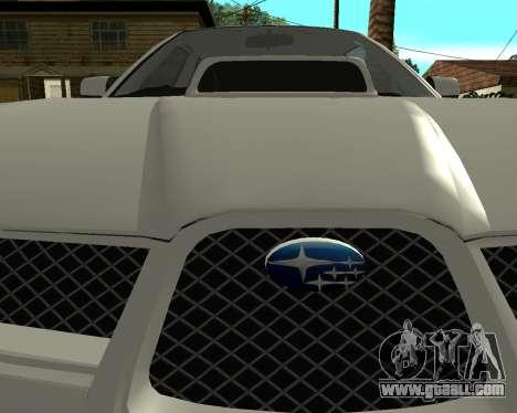 Subaru Impreza Armenian for GTA San Andreas right view