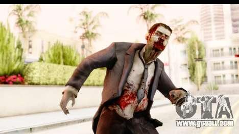 Left 4 Dead 2 - Zombie Suit for GTA San Andreas