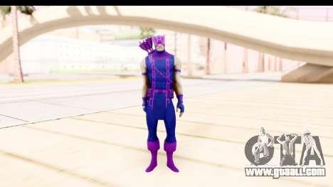 Marvel Heroes - Hawkeye for GTA San Andreas second screenshot