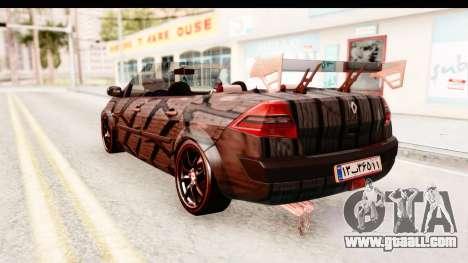 Renault Megane Spyder Full Tuning v2 for GTA San Andreas left view
