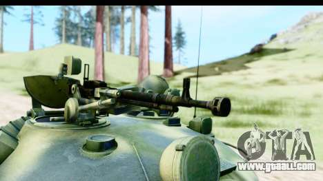 T-62 Wood Camo v3 for GTA San Andreas back view