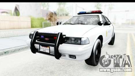 Sri Lanka Police Car v3 for GTA San Andreas back left view