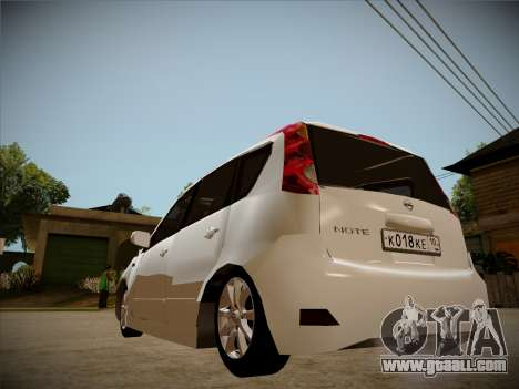 Nissan Note 2008 for GTA San Andreas side view
