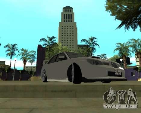 Subaru Impreza Armenian for GTA San Andreas left view