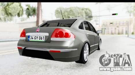 Fiat Linea 2015 v2 Wheels for GTA San Andreas back left view