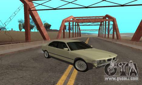 BMW 730 for GTA San Andreas back left view