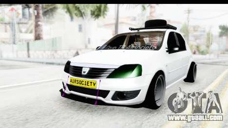 Dacia Logan Coil for GTA San Andreas back left view