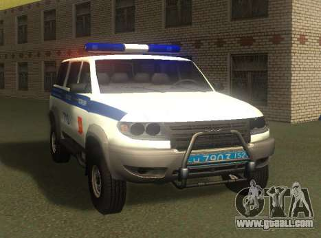 UAZ Patriot of the Police v1 for GTA San Andreas