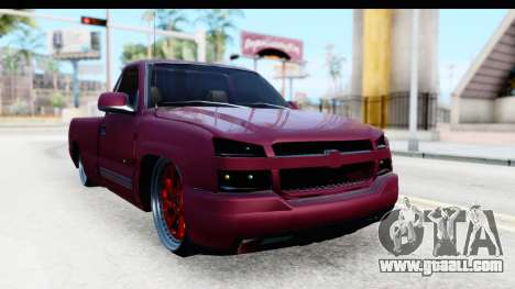 Chevrolet Silverado 2005 Low for GTA San Andreas right view